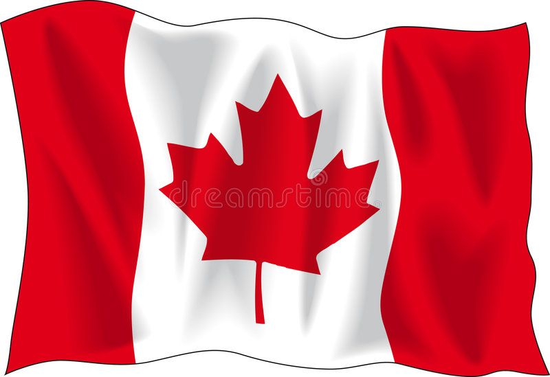 Bandierina canadese illustrazione di stock