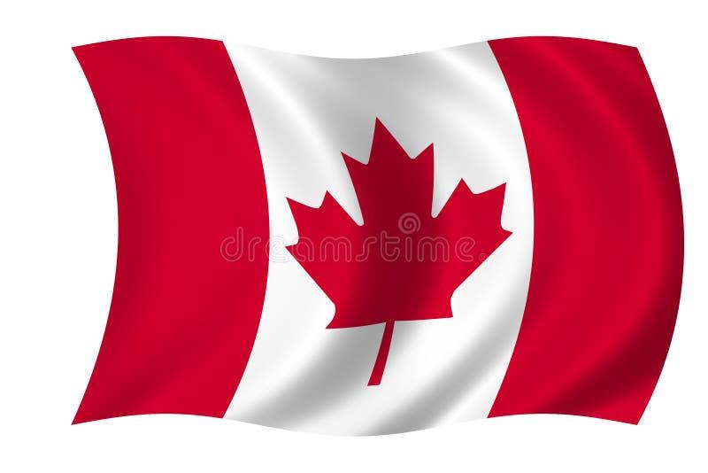 Bandierina canadese illustrazione vettoriale