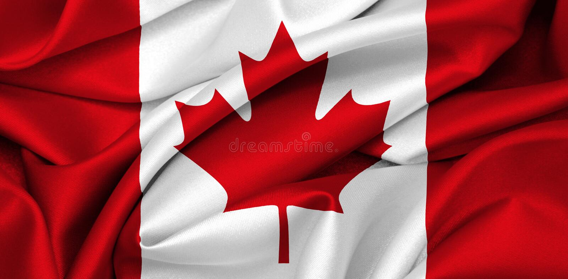 Bandierina canadese - Canada fotografie stock libere da diritti