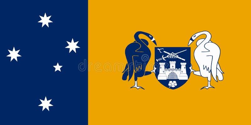Bandierina capitale australiana del territorio illustrazione vettoriale