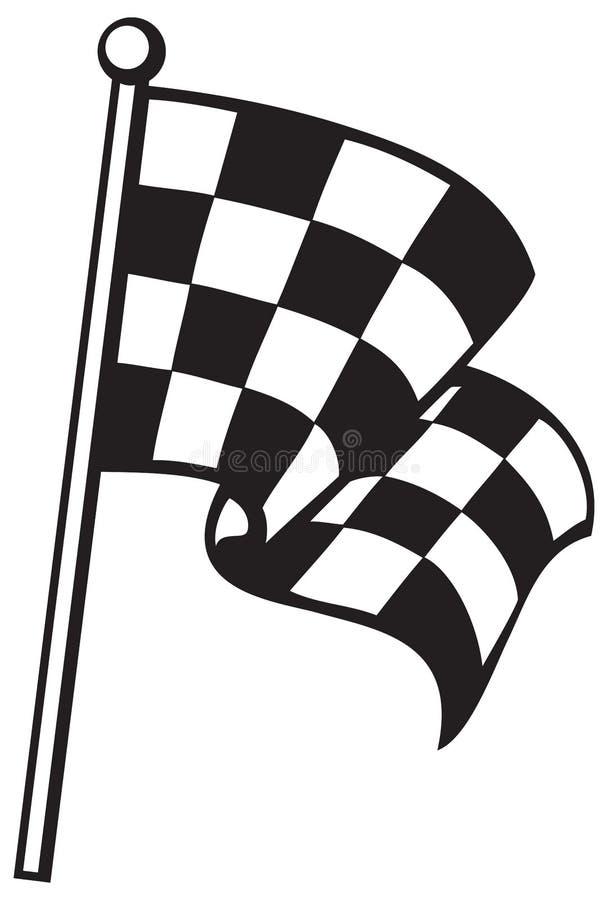 Bandierina Checkered illustrazione vettoriale