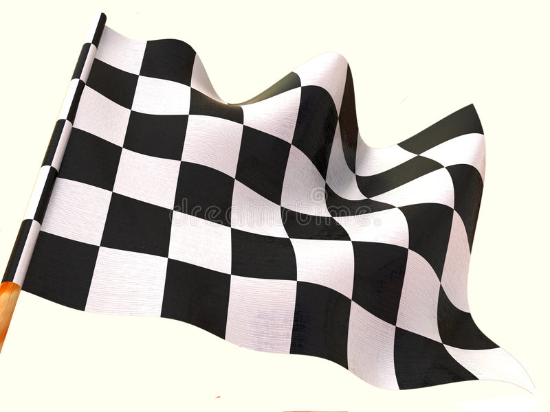 Bandierina Checkered. 3d illustrazione vettoriale