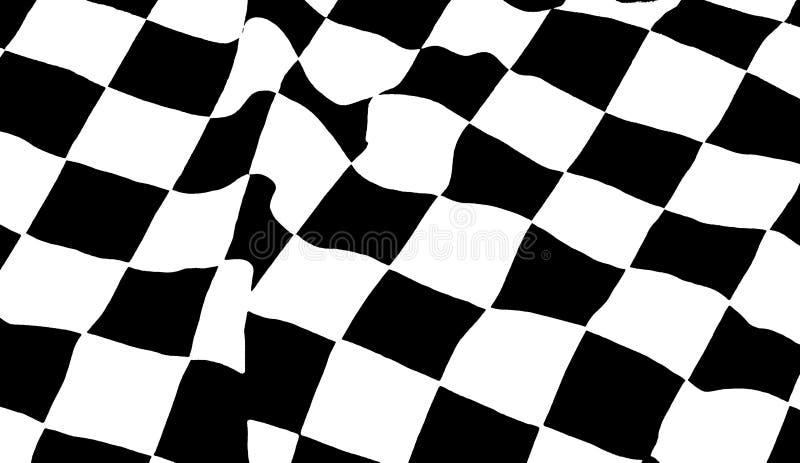 Bandierina Checkered fotografie stock