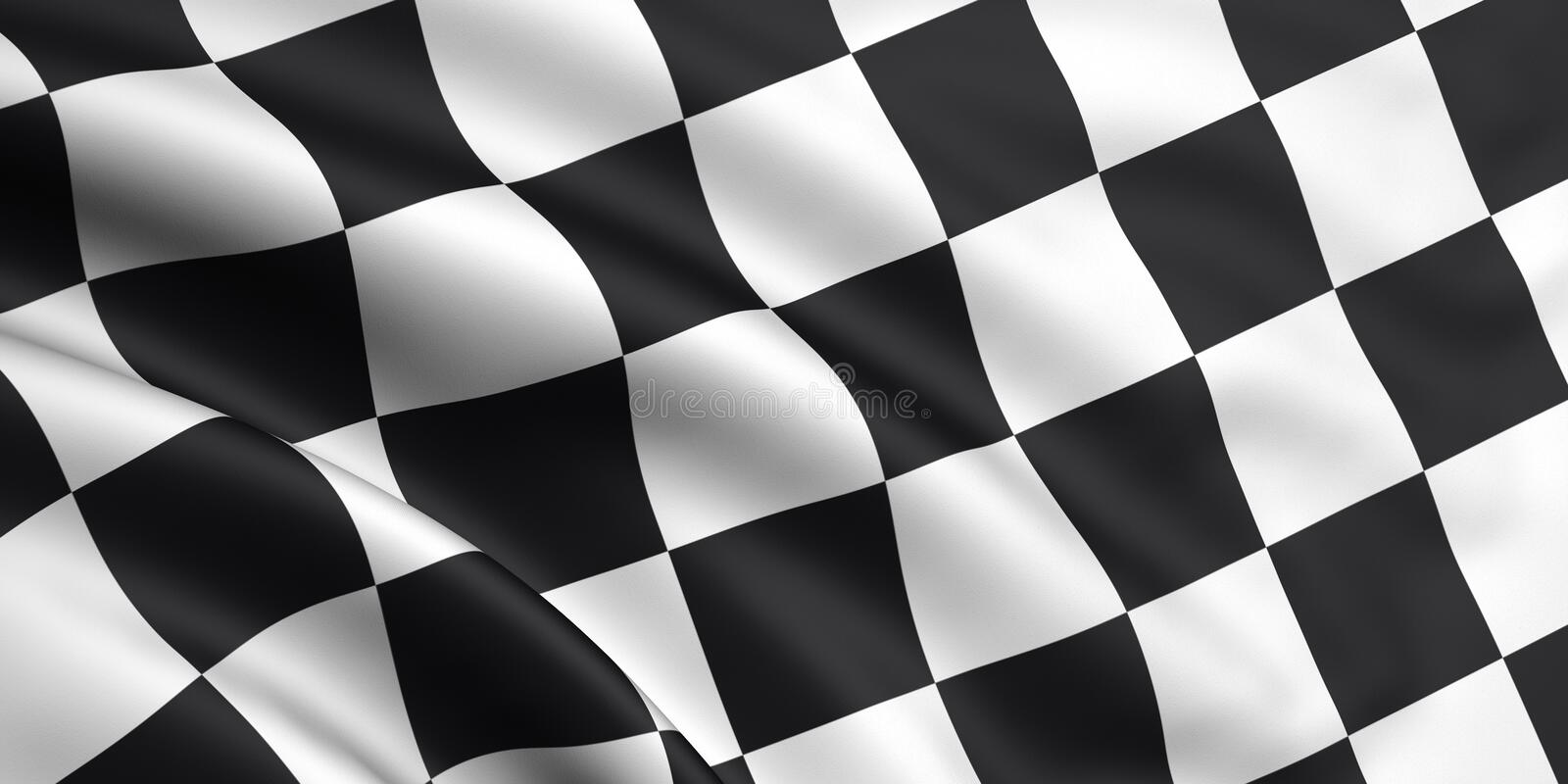 Bandierina Checkered illustrazione di stock