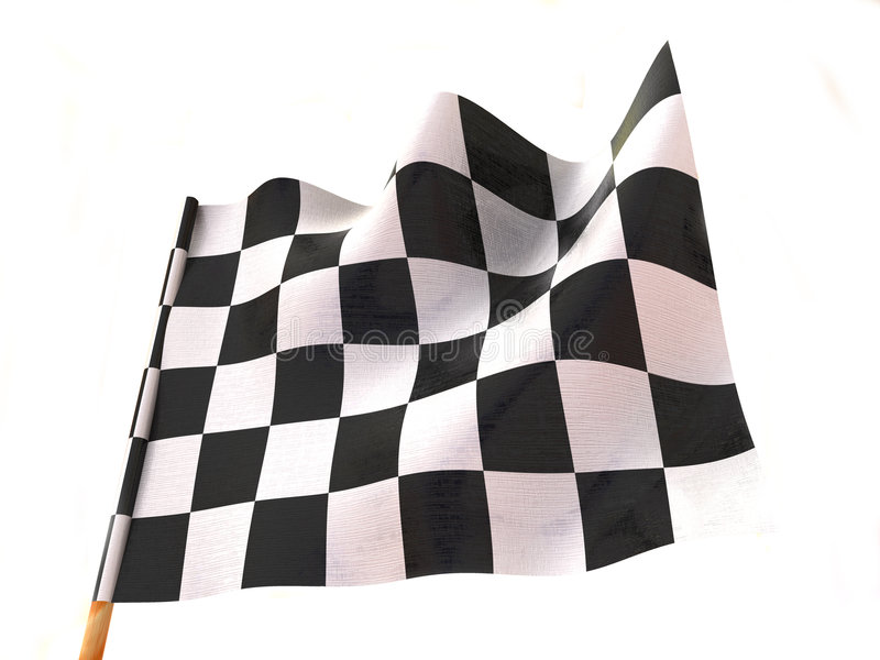Bandierina Checkered illustrazione di stock