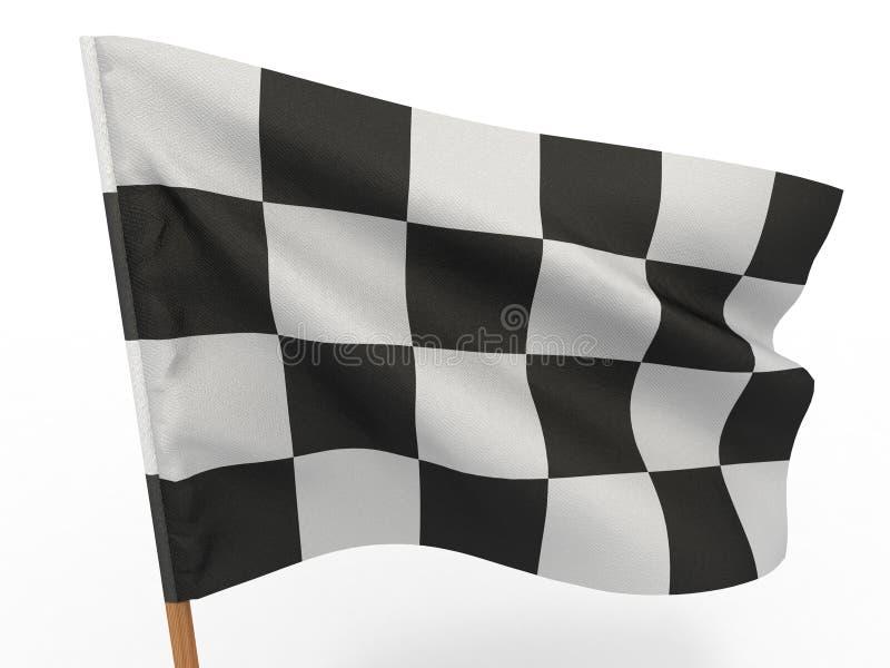 Bandierina checkered di rifinitura illustrazione vettoriale
