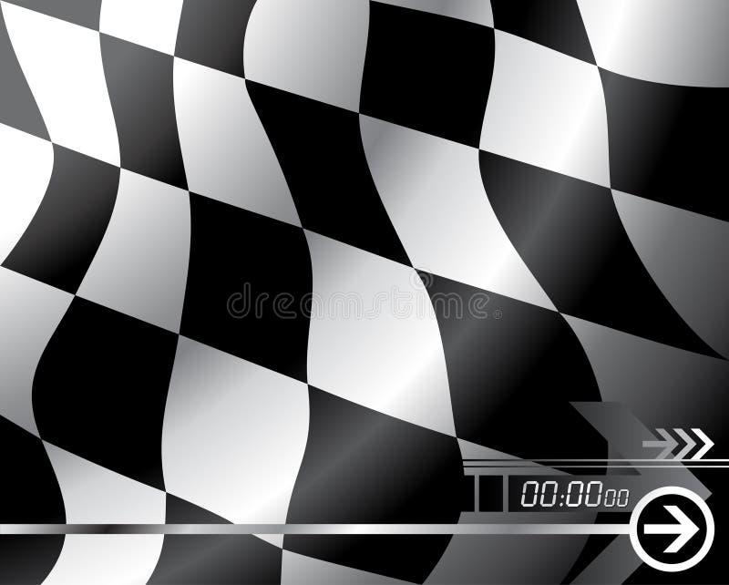 Bandierina Checkered di vettore illustrazione di stock