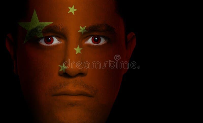 Download Bandierina Cinese - Fronte Maschio Fotografia Stock - Immagine di emozione, specifico: 3133068