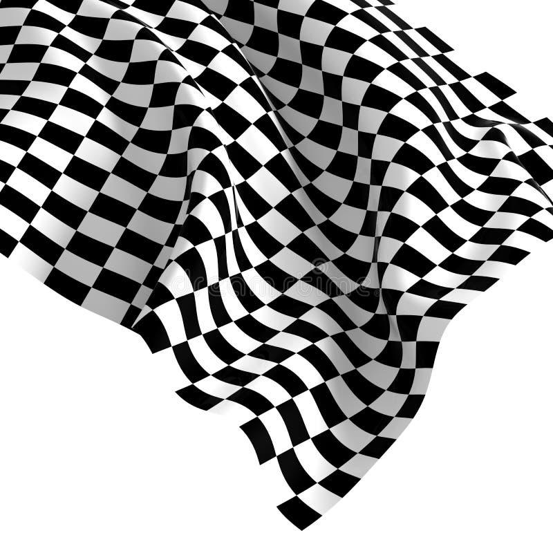 Bandierina controllata di inizio illustrazione di stock