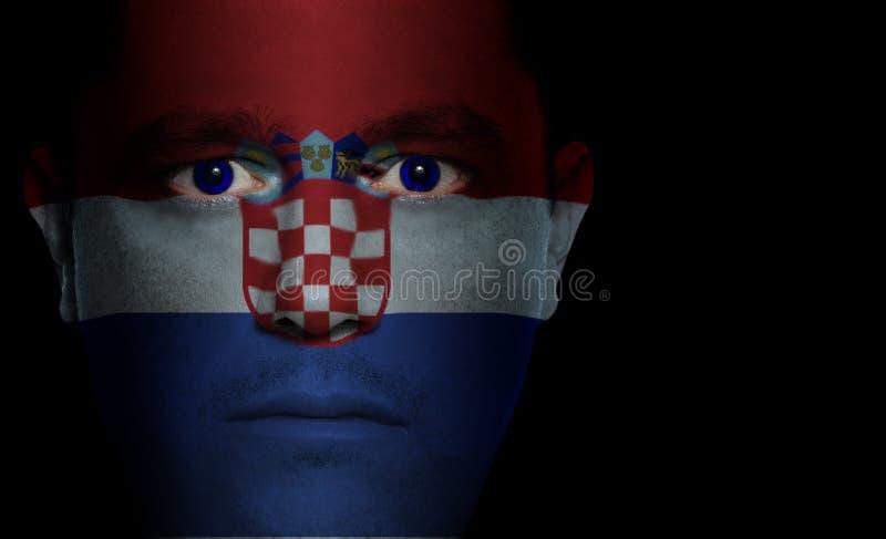 Bandierina croata - fronte maschio fotografia stock libera da diritti
