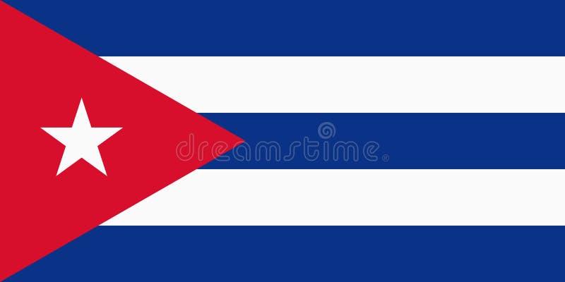 Bandierina cubana illustrazione vettoriale