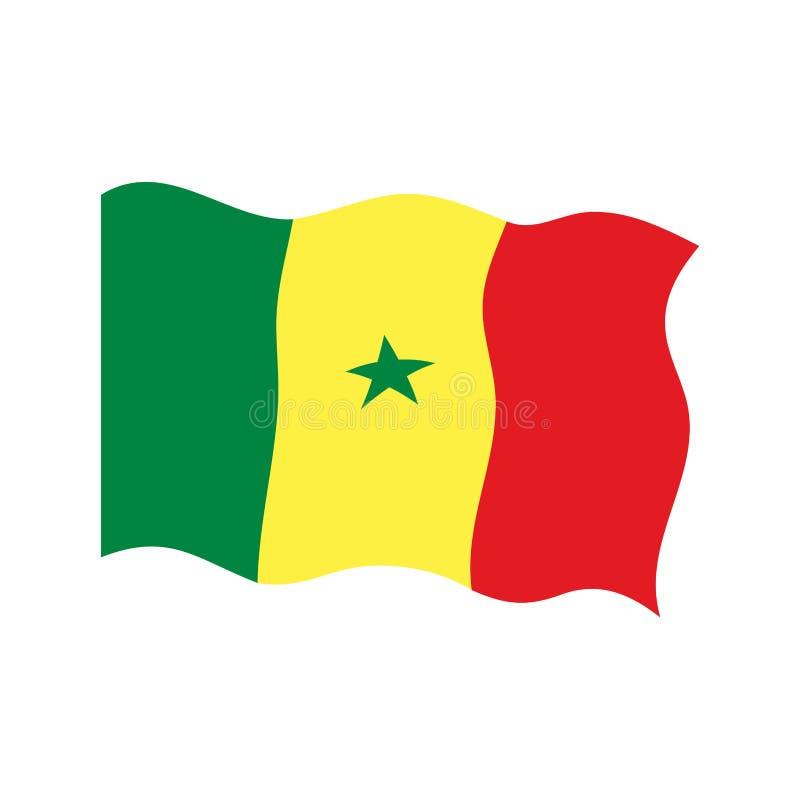 Bandierina d'ondeggiamento del Senegal royalty illustrazione gratis