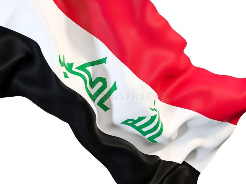 Bandierina d'ondeggiamento dell'Iraq illustrazione vettoriale
