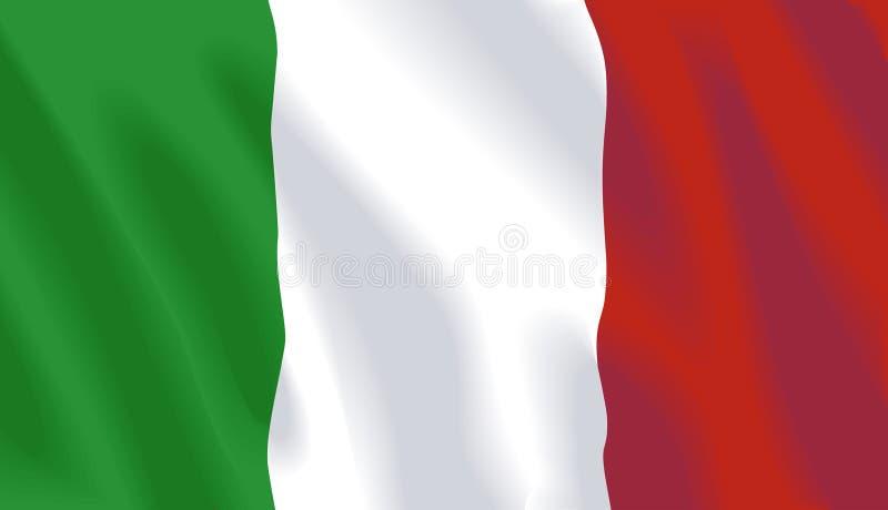 Bandierina d'ondeggiamento dell'Italia royalty illustrazione gratis