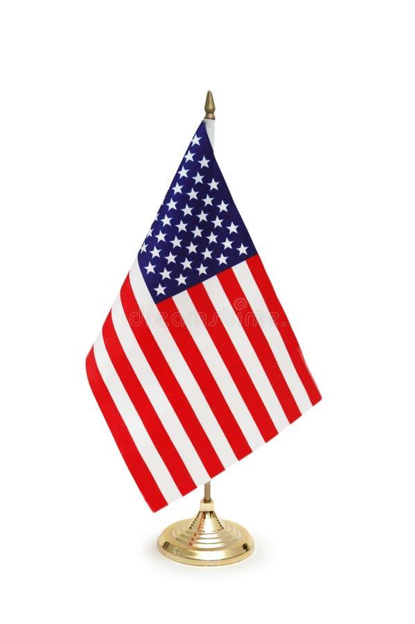 Bandierina Da Tavolo Degli S.U.A. Immagini Stock Libere da Diritti