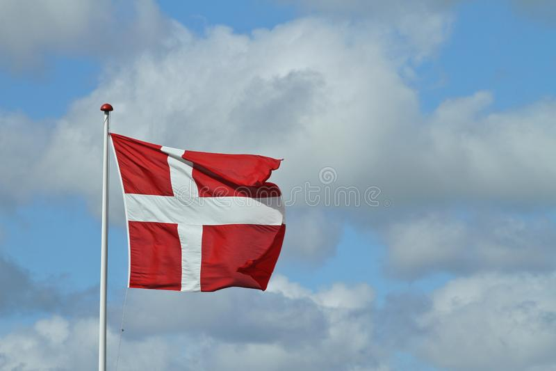 Bandierina danese fotografia stock libera da diritti