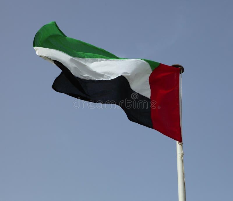 Bandierina degli Emirati Arabi Uniti fotografia stock