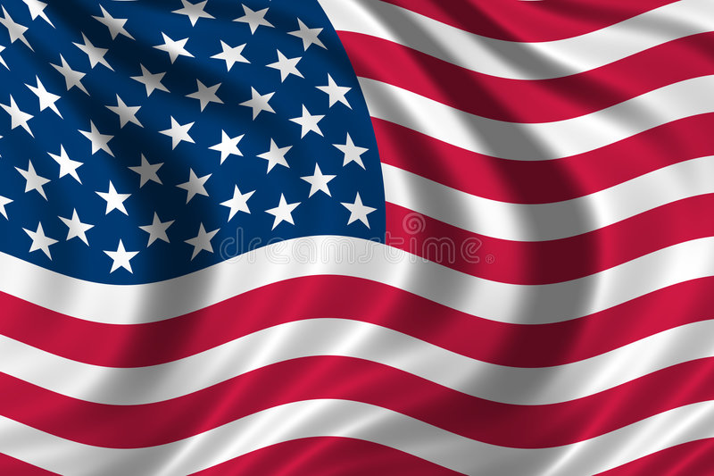 Bandierina degli S.U.A. immagini stock