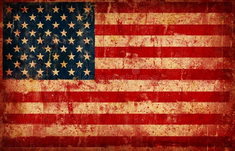 Bandierina degli S.U.A. illustrazione di stock