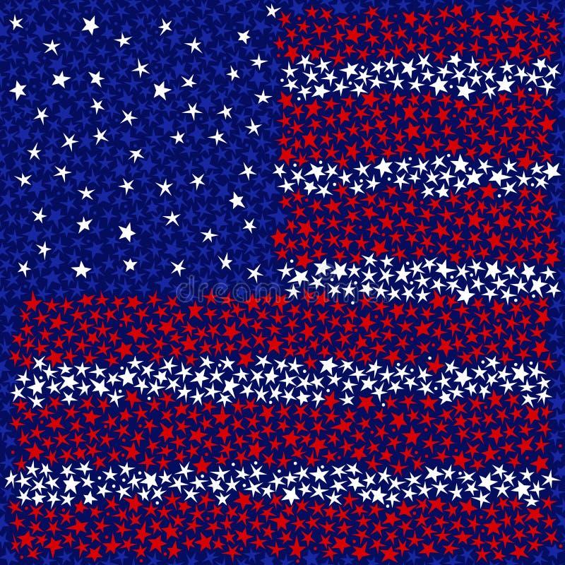 Bandierina degli S.U.A. della stella illustrazione vettoriale