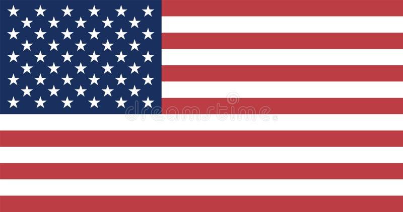Bandierina degli Stati Uniti illustrazione vettoriale