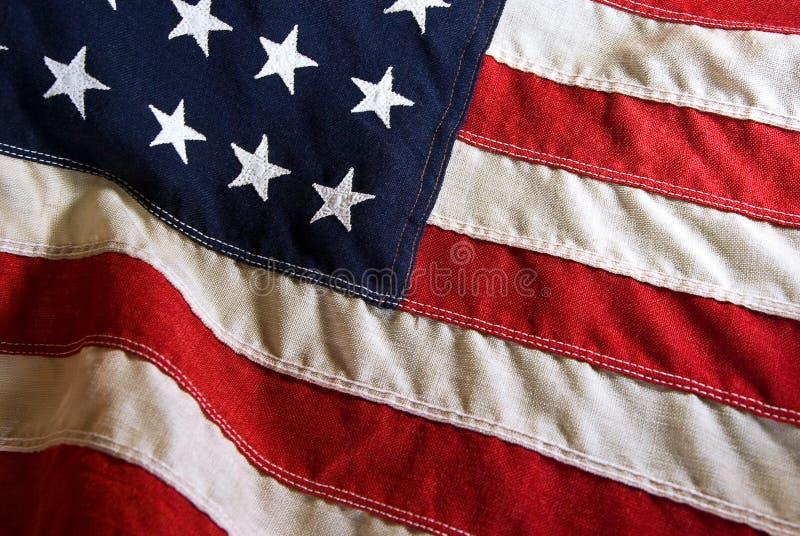 Bandierina degli Stati Uniti dell'annata fotografia stock libera da diritti