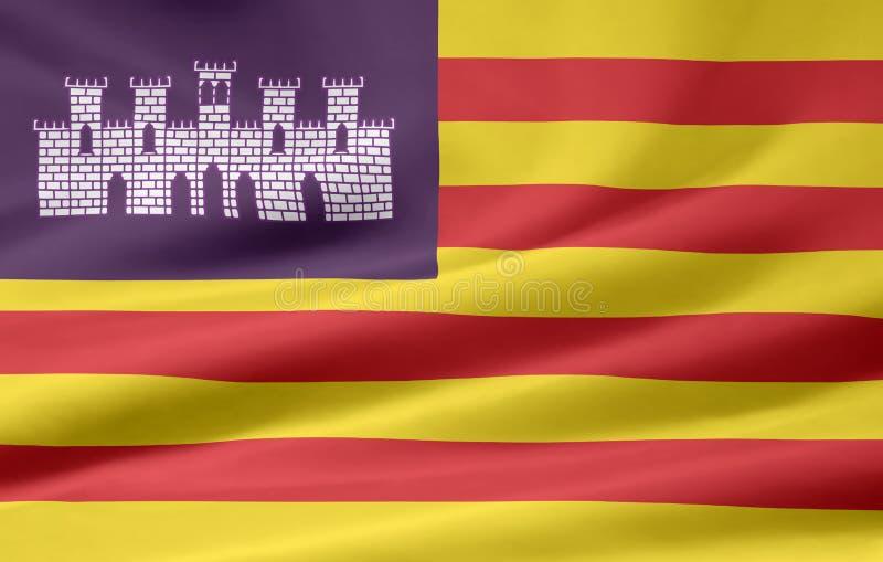 Bandierina dei Balearic Island - la Spagna illustrazione di stock
