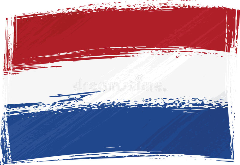 Bandierina dei Paesi Bassi di Grunge
