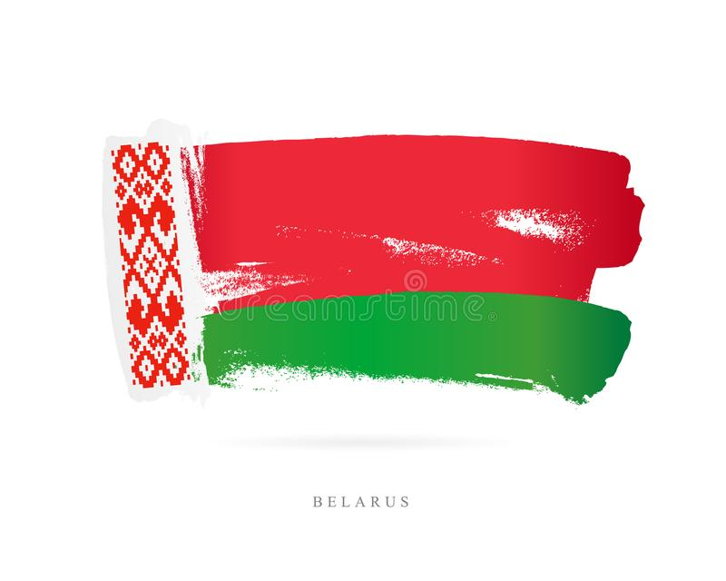 Bandierina del Belarus Concetto astratto royalty illustrazione gratis