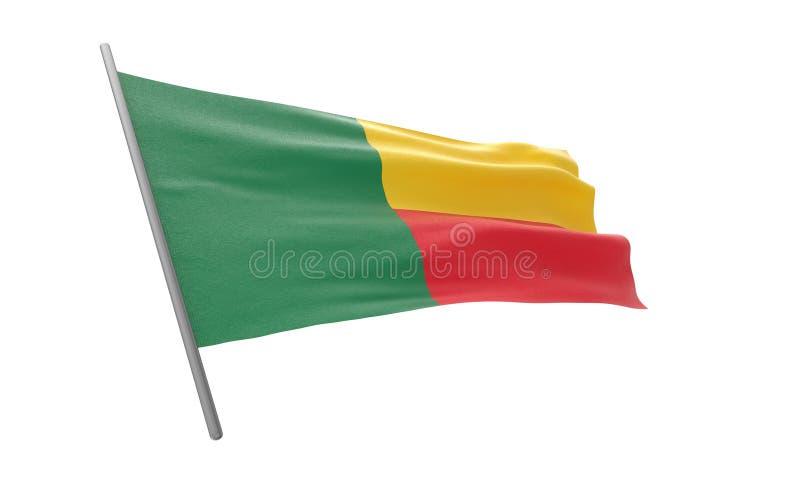 Bandierina del Benin illustrazione di stock