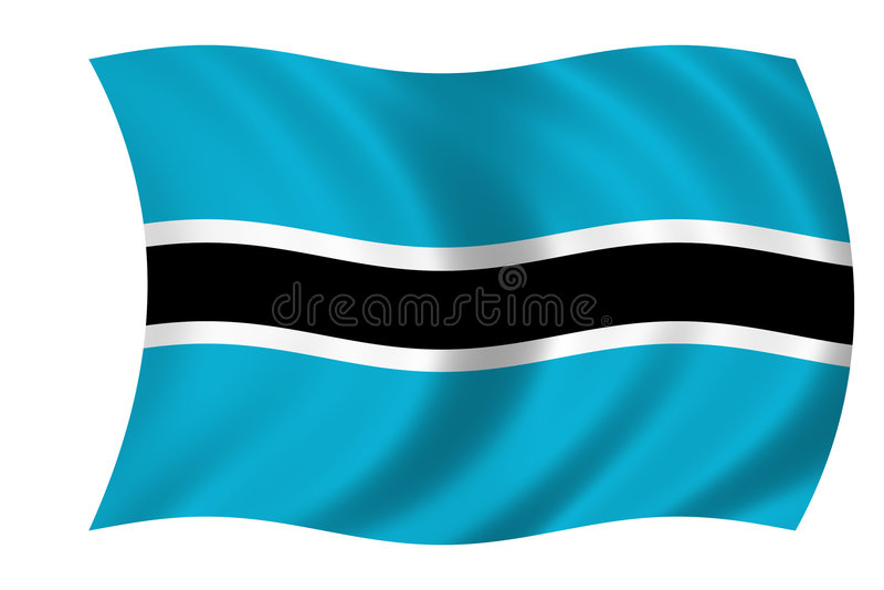 Bandierina del Botswana illustrazione vettoriale