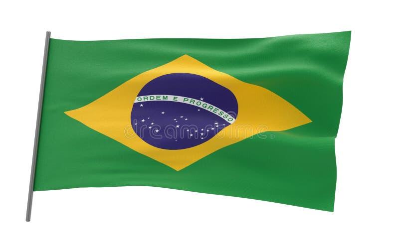 Bandierina del Brasile illustrazione di stock