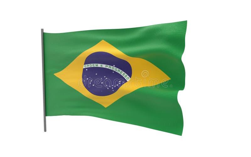 Bandierina del Brasile illustrazione vettoriale