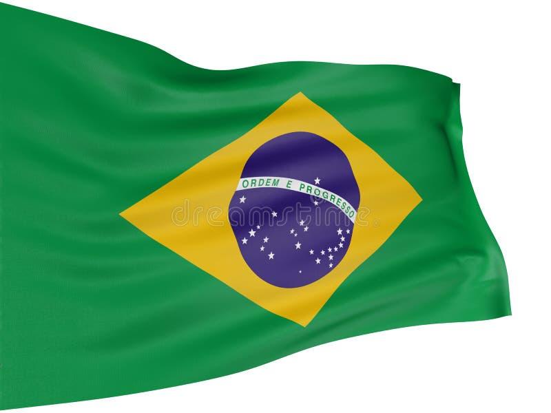 bandierina del brasiliano 3D royalty illustrazione gratis
