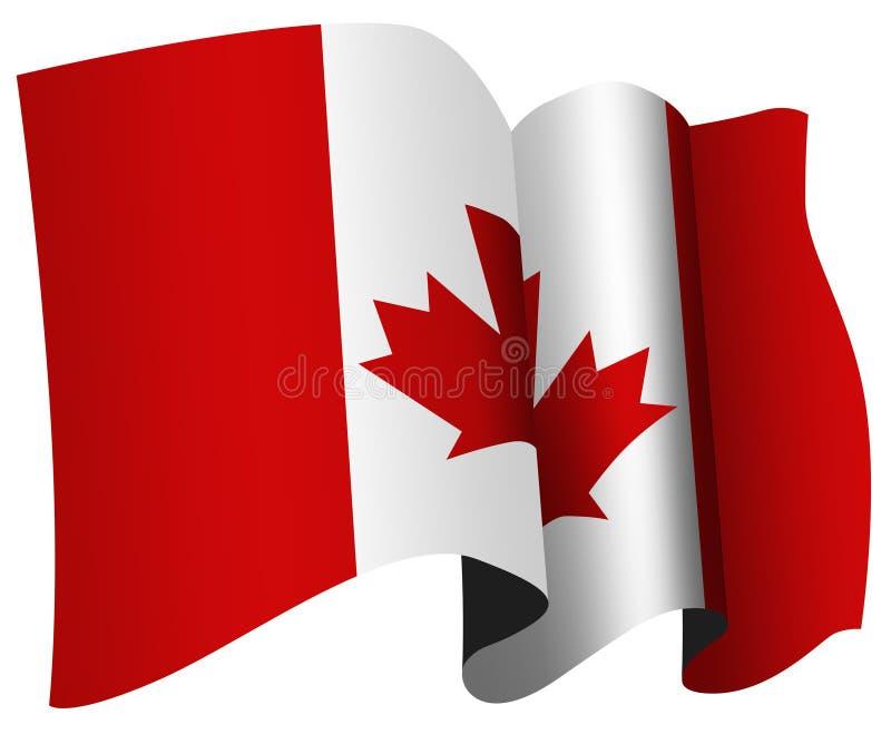 Bandierina del Canada illustrazione vettoriale