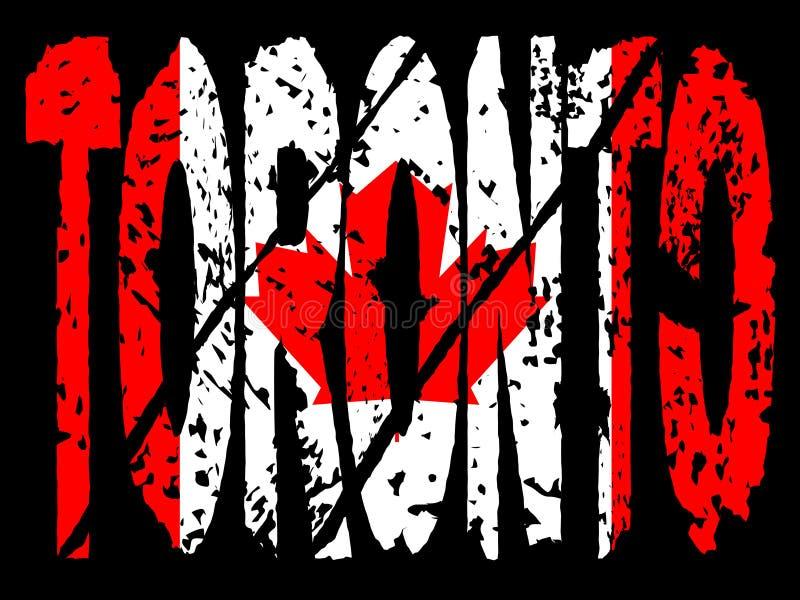 Bandierina del canadese di Grunge Toronto illustrazione vettoriale