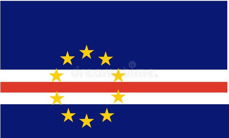 Bandierina del Capo Verde illustrazione vettoriale