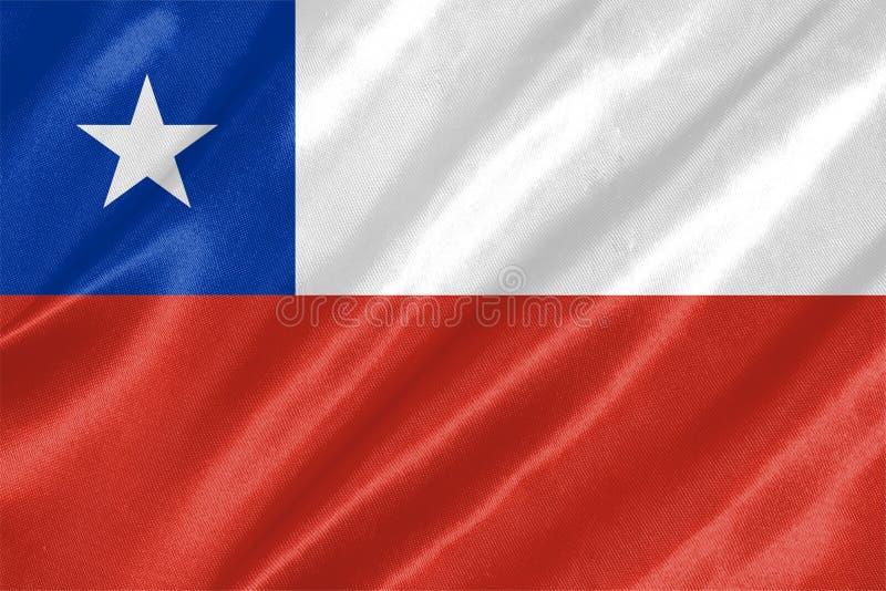 Bandierina del Cile illustrazione vettoriale