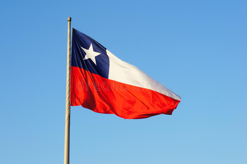 Bandierina del Cile immagine stock