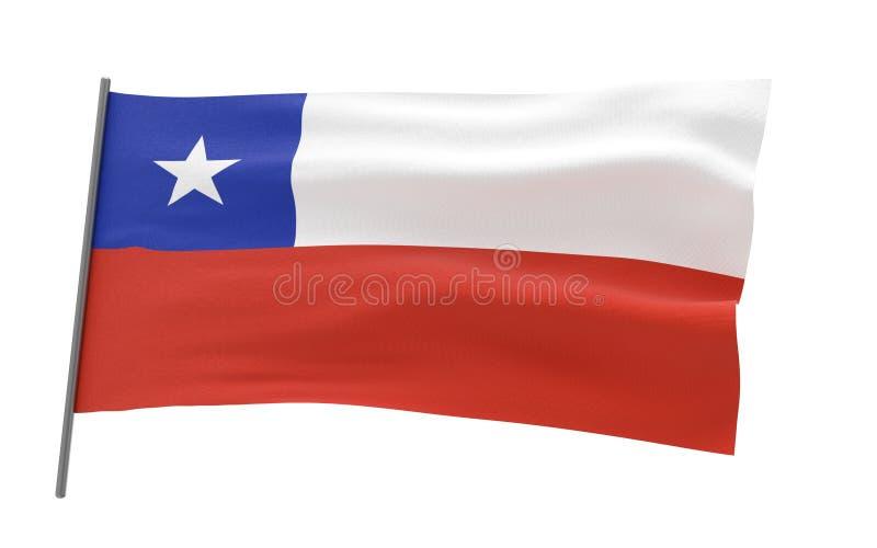 Bandierina del Cile illustrazione di stock