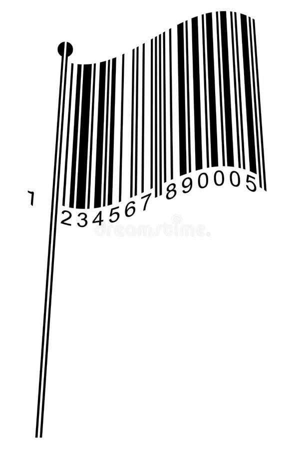 Bandierina del codice a barre royalty illustrazione gratis