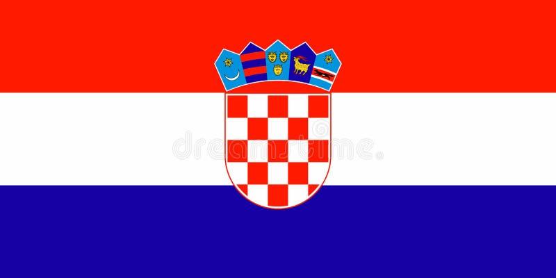 Bandierina del Croatia illustrazione di stock