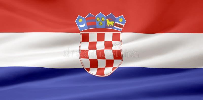 Bandierina del Croatia illustrazione vettoriale