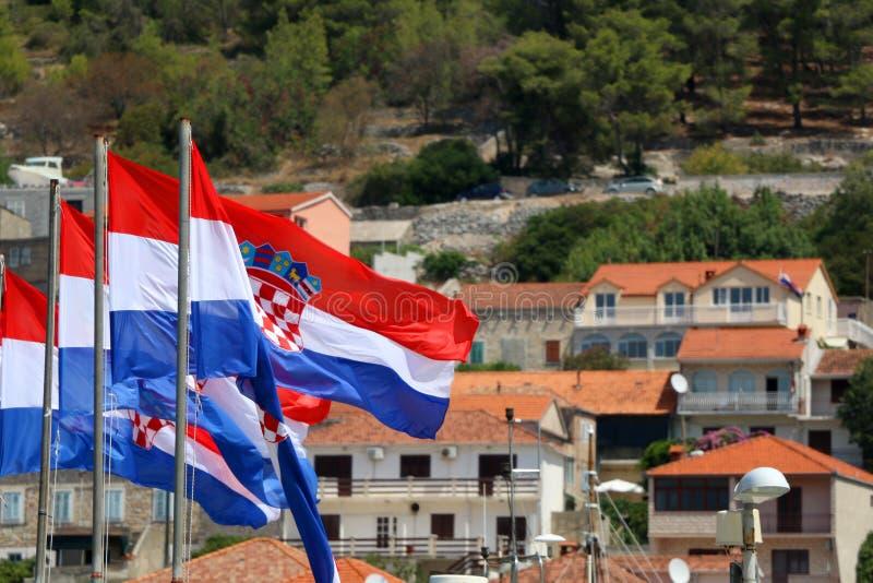 Bandierina del Croatia immagini stock