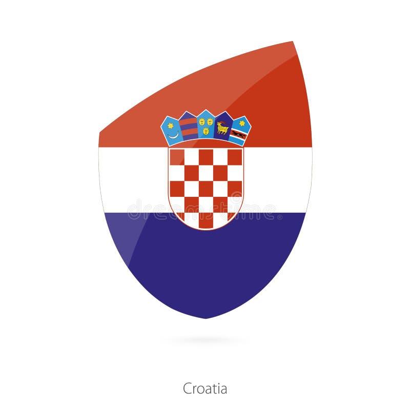 Bandierina del Croatia Bandiera croata di rugby illustrazione di stock