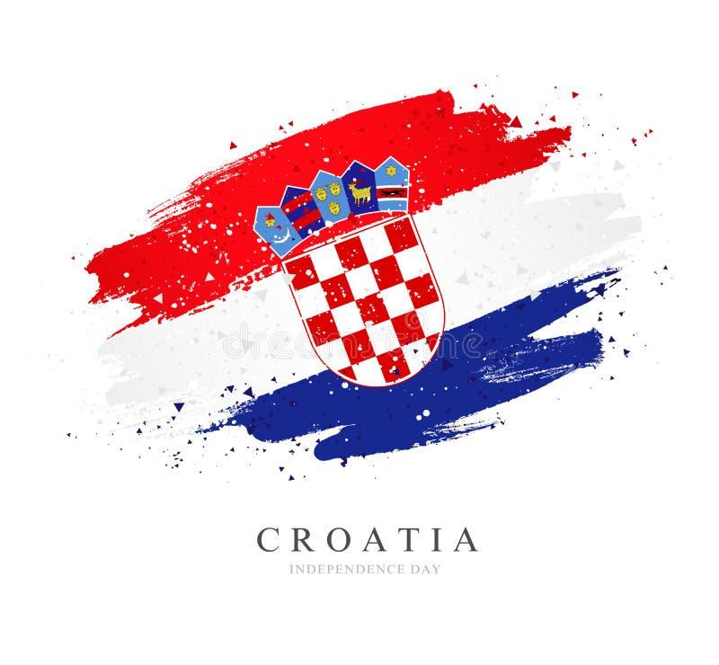 Bandierina del Croatia Illustrazione di vettore su priorit? bassa bianca royalty illustrazione gratis