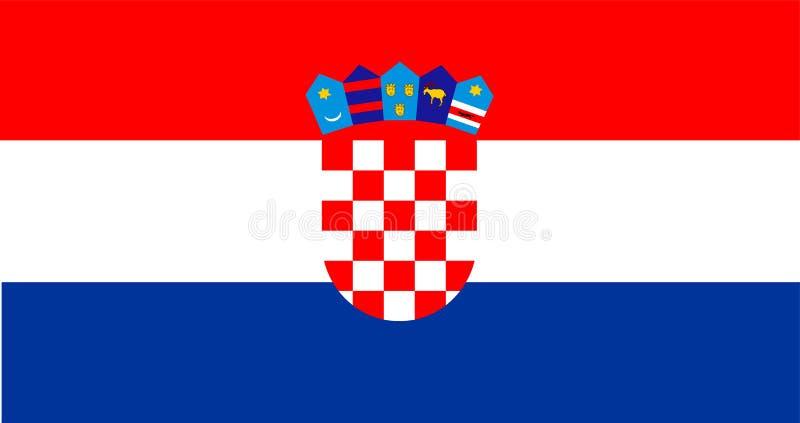 Bandierina del Croatia Stemma della Croazia illustrazione vettoriale