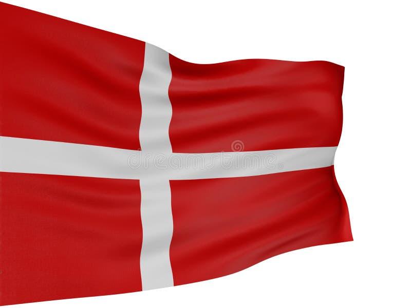 bandierina del Danese 3D royalty illustrazione gratis