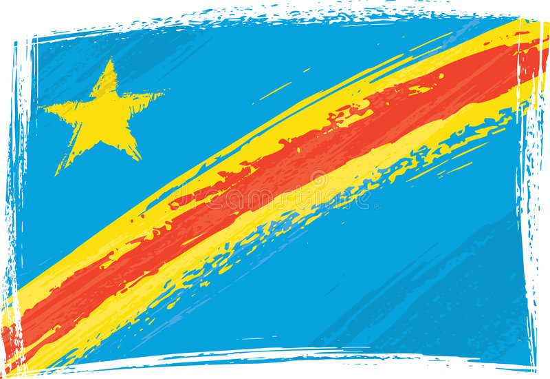 Bandierina del Democratic Republic Of The Congo royalty illustrazione gratis