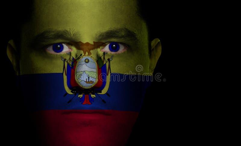 Bandierina del Ecuadorian - fronte maschio fotografia stock libera da diritti